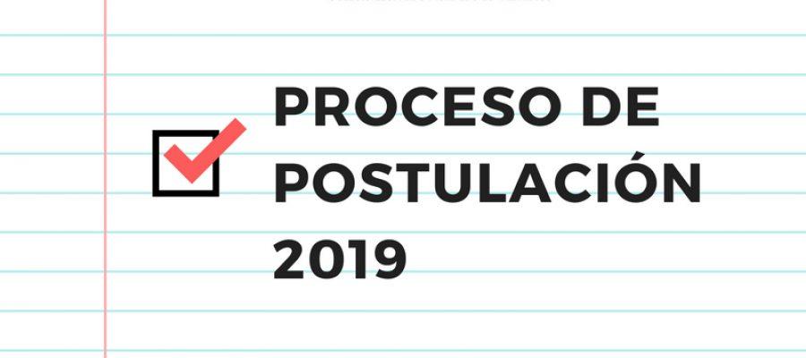 PROCESO DE POSTULACIÓN 2019