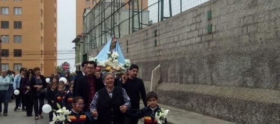 Peregrinación de culminación del mes de María