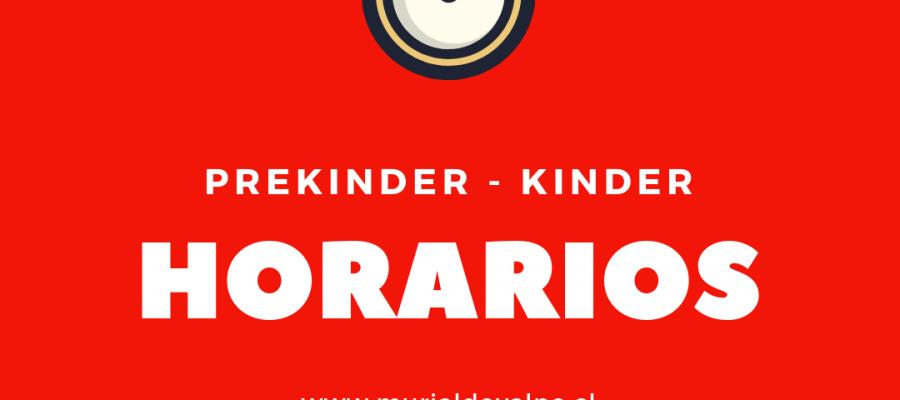Horarios Pre Kinder – Kinder – Actualizado