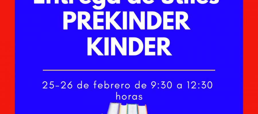 Entrega de útiles escolares PREKINDER y KINDER