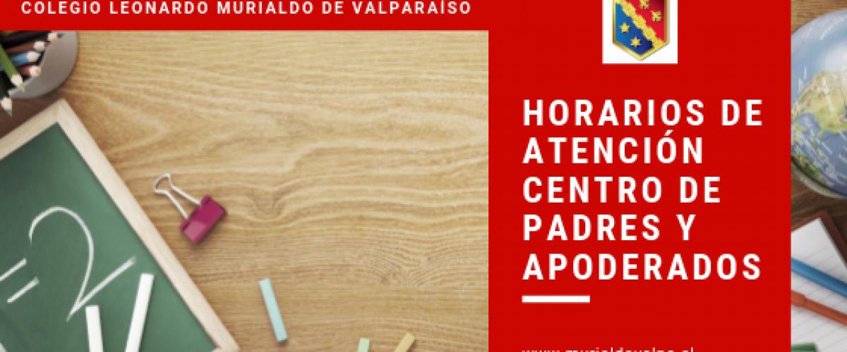 Horario de Atención Centro de Padres y Apoderados