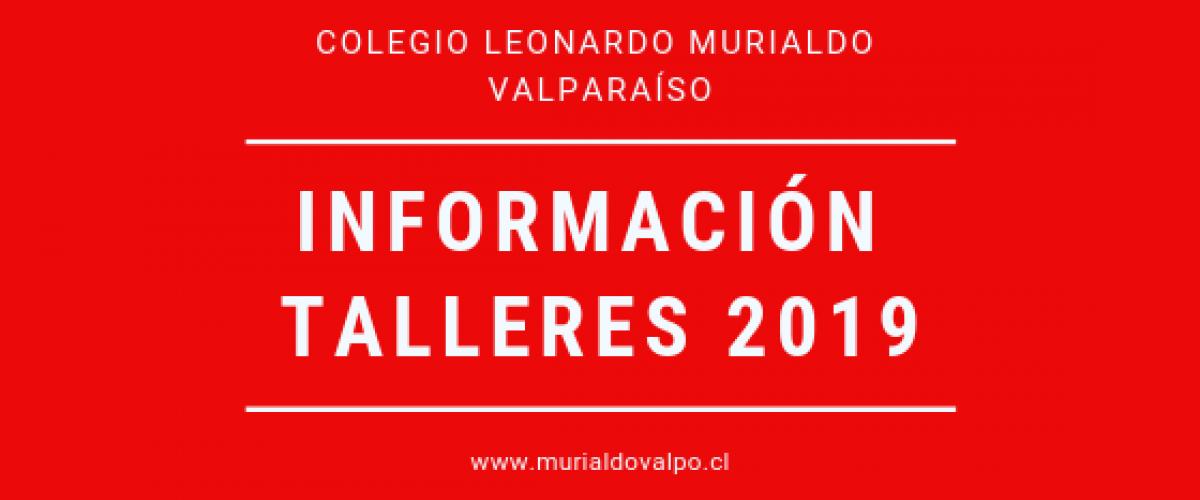 Información Talleres 2019 – Nuevos Horarios