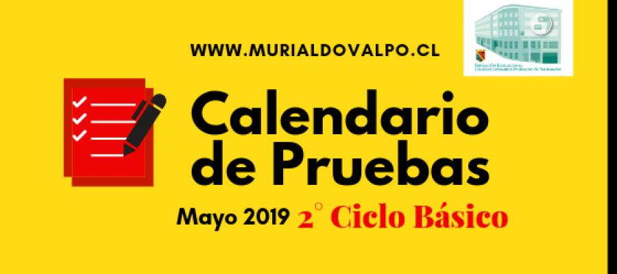 Calendario de Pruebas – Mayo – 2°Ciclo Básico