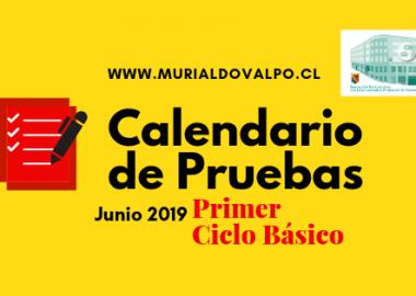 Calendario de Pruebas Junio: Primer Ciclo Básico