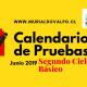 Calendario de Pruebas Junio: Segundo Ciclo Básico