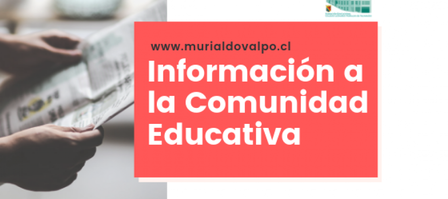 Información para toda la Comunidad Educativa
