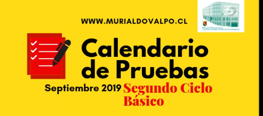 Calendario de Pruebas de Septiembre 2ºCiclo Básico