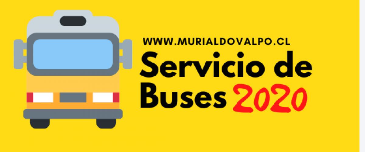Atención Apoderados: Servicio de Buses 2020