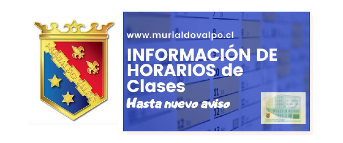 Información de horarios de clases para todo el Colegio
