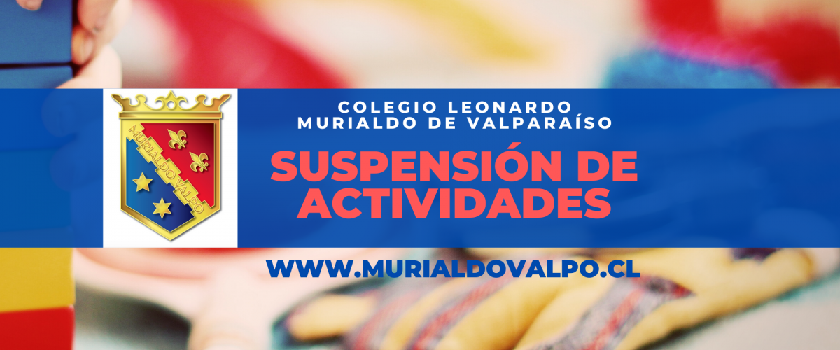 Información sobre suspensión de actividades