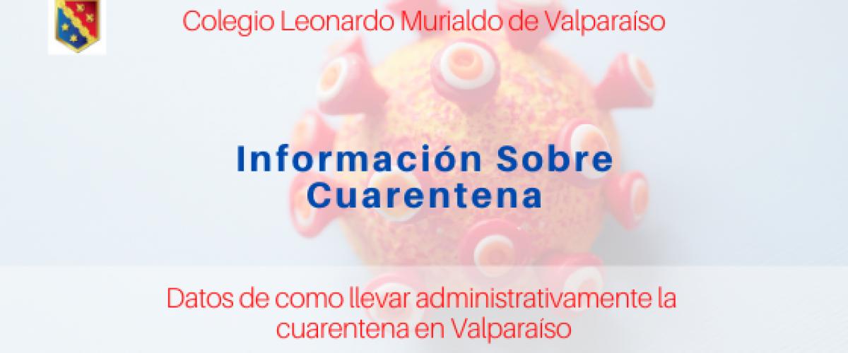 Información sobre Cuarentena en Valparaíso