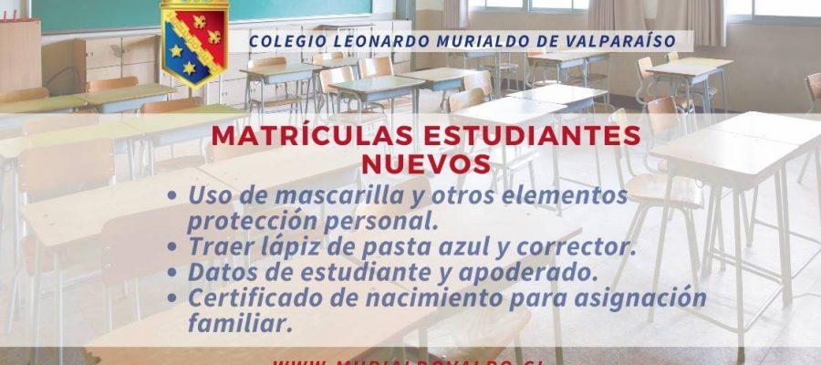 INFORMACIÓN DEL PROCESO DE MATRÍCULA 2021