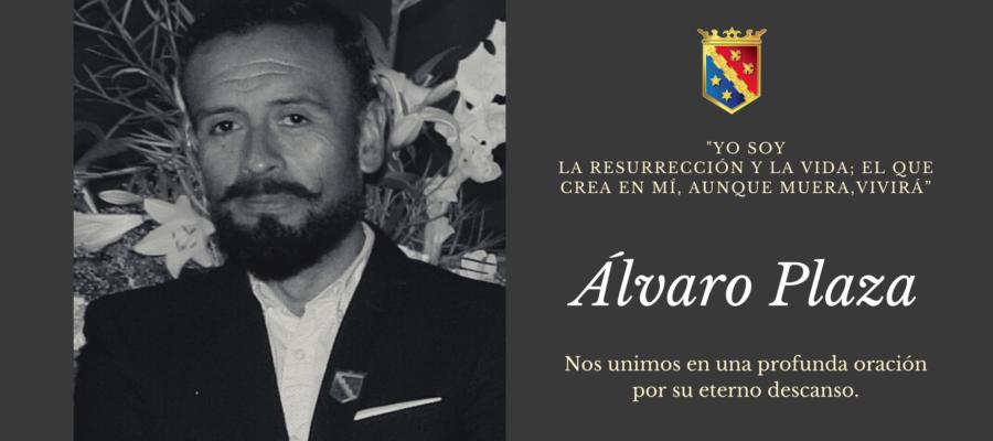 Noticia de Familia: Comunicamos el fallecimiento del querido profesor Álvaro Plaza